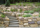 Plantings outdoor living patios driveways walks for Finishing touches landscaping