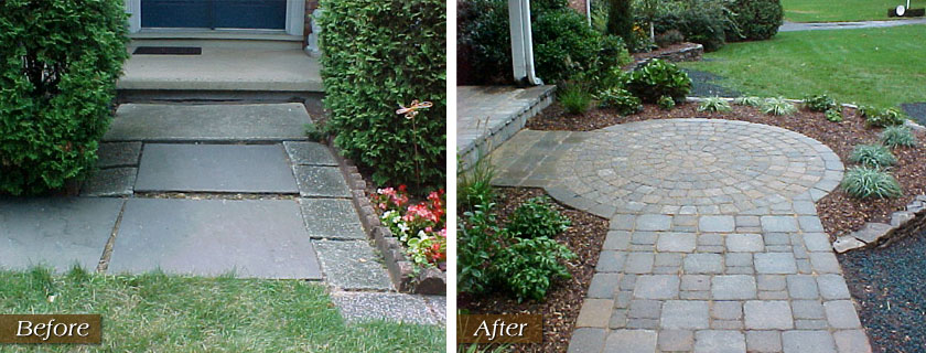 Before After Finishing Touch Landscape Construction